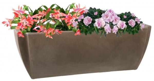 Großer Blumenkasten PALMEA mit Wasserreserve