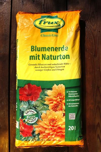 Blumenerde mit Naturton 20/40 kg