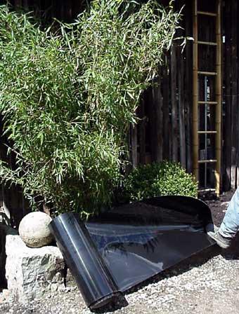 Bambus Rhizomensperre, Höhe: 70 cm